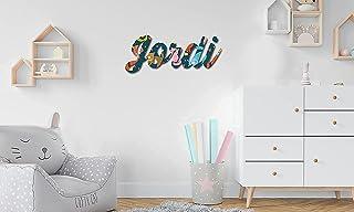 Nombres en madera • Nombres Personalizados para pared, Nombres para bebés, Regalo personalizado • 30 cm   40 cm   50 cm No...