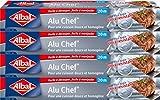 Albal rollo aluminio, fácil de cortar, Ultra Resistente, 20m, juego de 4, Aluminio Chef