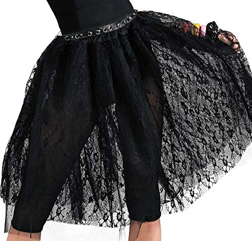 Amscan 843065 Black Lace Skirt, Adult Standard Size, 1 Piece