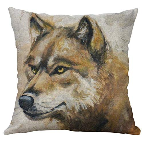 HFBBY Wildlife and Cute Pets Close-up Animal Pattern Pillow Home Decorative Pillow case (11, 16×16 inch)