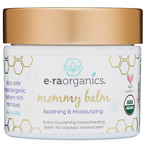 Soothing Nipple Cream for Breastfeeding Moms 100% Natural, USDA Certified Organic Healing Balm For Chapped, Irritated, Sensitive Skin Care. Non-GMO, Baby Safe Breastfeeding Cream Era-Organics