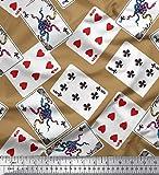 Soimoi Braun Satin Seide Stoff Indoor-Spiel Poker-Karte