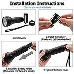 BESTSUN Black Light UV Flashlight Torch Ultraviolet Lamp Torch 51LED UV Light 395nm for Dog Cat Pet Urine Finder Stain Detector Light 10