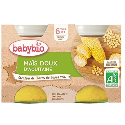 Babybio - Petits Pots Maïs Doux d'Aquitaine 2x130 g - 6+ Mois - BIO