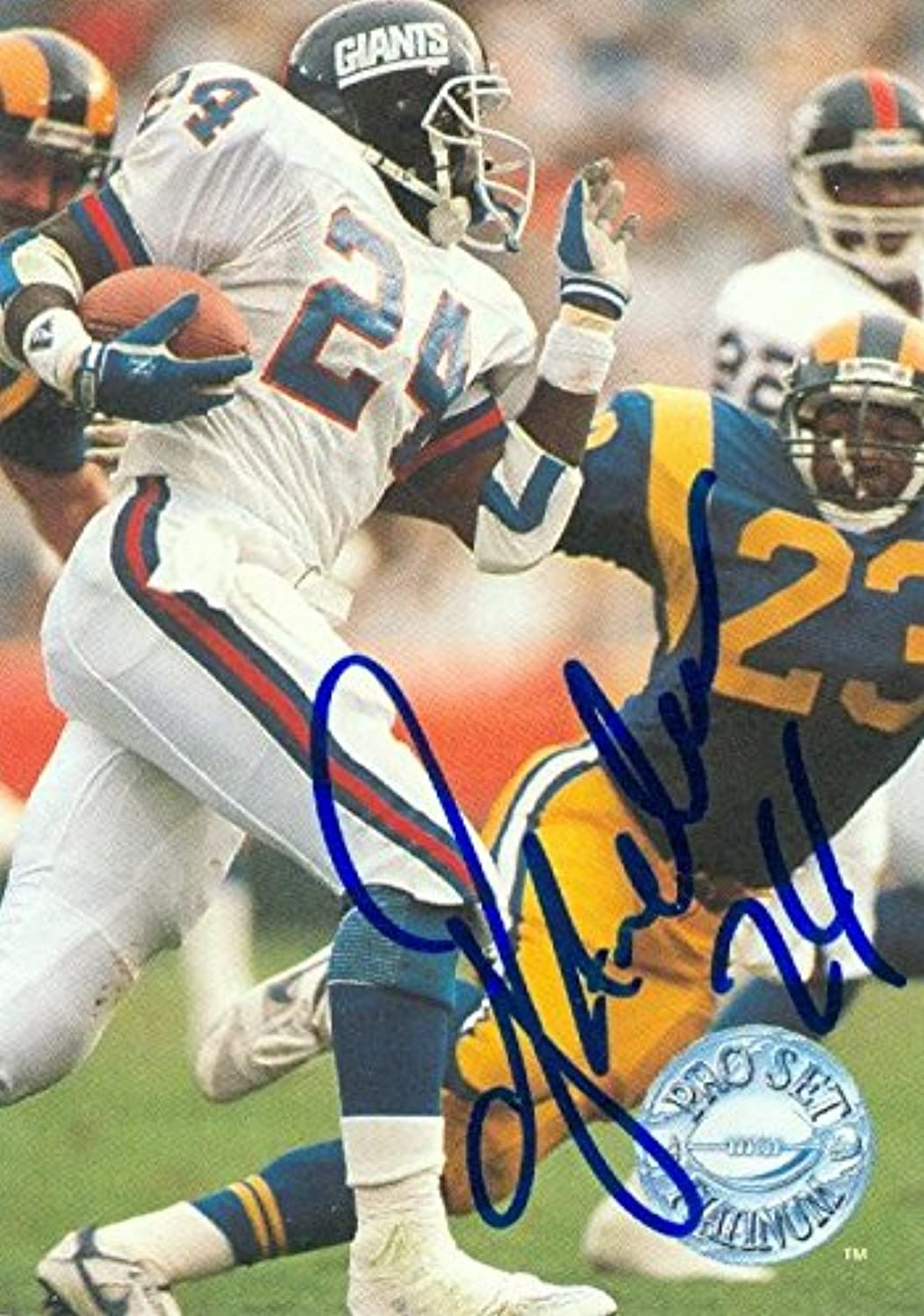 Ottis Anderson autographed Football Card (New York Giants, SC) 1991 Pro Set  80  NFL Autographed Football Cards