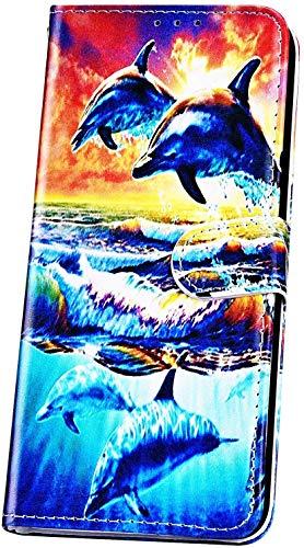 JAWSEU Compatible avec iPhone XR Coque Portefeuille PU Mode Coloré Motif Étui Housse Cuir à Rabat Pochette Magnétique Stand PU Flip Wallet Case Cover pour iPhone XR,Dauphin