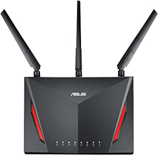 ASUS AC2900 WiFi Dual-band Gigabit Wireless Router with 1.8GHz Dual-core Processor and AiProtection Network Security Powered by Trend Micro, Black