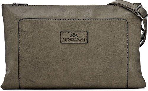 MIYA BLOOM, Damen Handtaschen, Abendtaschen, Unterarmtaschen, Clutches, Umhängetaschen, Crossover-Bags, 33 x 22 x 2 cm (B x H x T), Farbe:Khaki