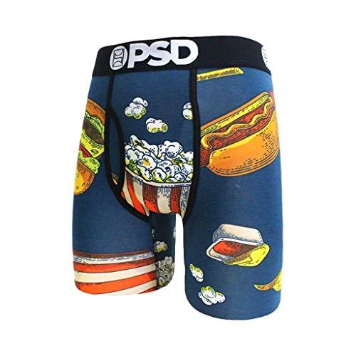 PSD Herren E - Modal Junk Lunch Boxer Brief Unterwäsche - Blau - Large