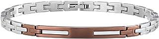 Sector No Limits Bracciale da uomo, Collezione BASIC Sector Jewels, lunghezza 215 cm, in acciaio e cristalli - SZS25