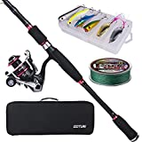 Goture Spinning Fishing Rod kit, Ultralight 9ft Travel Pole & Reel Combo, Lures, Line, Delicate...