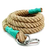Aoneky Gym Climbing Ropes with Clip for Training, Fitness, Strengthen Muscle Power, Battle, Exercise, Extra Thick 30mm, 40mm Diameter (40mm × 10 Ft)