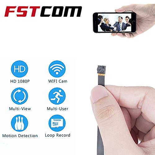 FSTCOM WIFI Spy Camera Wireless Hidden Mini Secret Espias Nanny Cam - 720P, Motion Activated, Remote View, Live Video, APP - Home, Office, Car, Drone Security