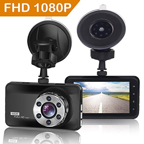 "ORSKEY Dash Cam 1080P Full HD Car Camera DVR Dashboard Camera Video Recorder In Car Camera Dashcam for Cars 170 Wide Angle WDR with 3.0"" LCD Display Night Vision Motion Detection and G-sensor Logo"