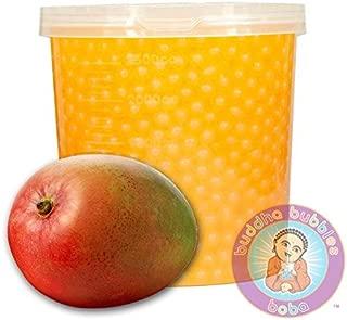 Popping Mango Boba 42 Ounces / 12+ Drinks Buddha Bubbles Boba Bite & Burst