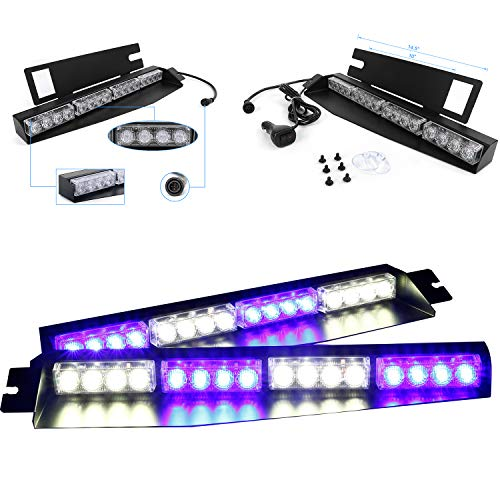 sun visor police lights - 8
