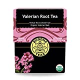 Organic Valerian Root Tea, 18 Bleach-Free Tea Bags – Caffeine Free Tea Supports Healthy Sleep...