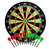 "Amazing Mindz Dart Magnetic Board, Premium Large Magnetic Board, 17"" Magnetic Dart Board with 12 Darts(6pcs+6pcs Bonus), Premium Quality Dart Board, Magnetic Board for Kids and Adults"