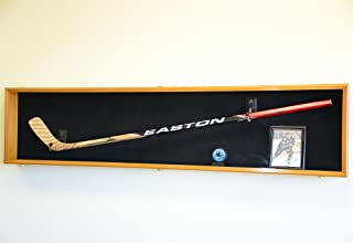 Hockey Stick Puck Display Case Rack Holder Full Size Wall Mounted