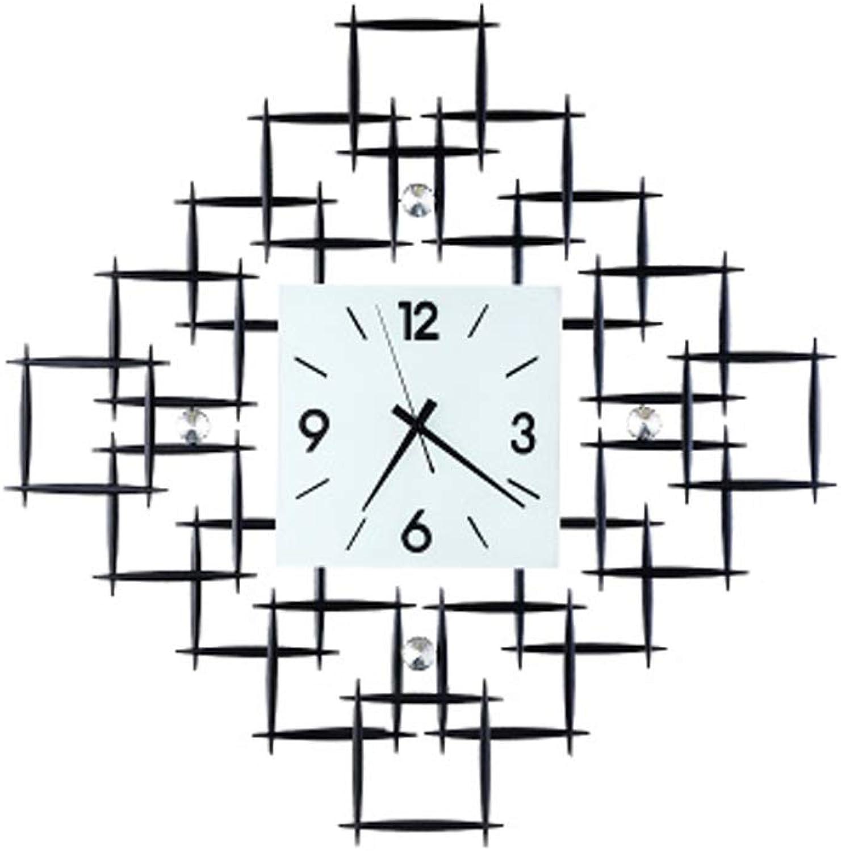 Relojes de Decoracion 50 cm de Madera Grande Reloj de Parojo Antique Vintage Retro Style Diamond Inicio Hotel Bar Office Decor Idea de Regalo sin batería Personalidad
