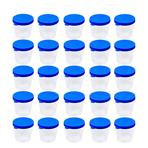 Save %17 Now! YOOJIA 5Pcs Disposable Transparent Plastic Cups for STD Screening Drug Pregnancy Testi...