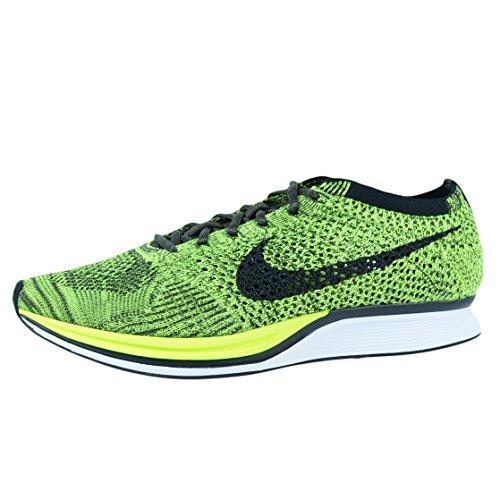 Nike Flyknit Racer, Zapatillas de Running Hombre, Verde (Verde (Volt/Black-Sequoia), 39