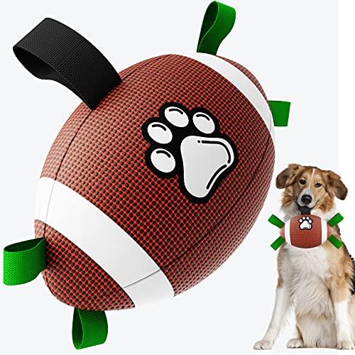 Hundespielzeug-Fußball, HETOO Interactive Dog Toys für Tauziehen, Dog Tug Toy, Hundewasserspielzeug, Durable Dog Balls für kleine und mittlere Hunde…