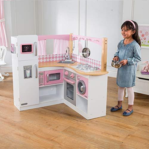 KidKraft 53185 Grand Gourmet Eck-Spielküche, rosa & weiß - 2
