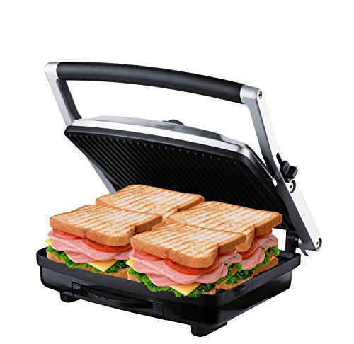 ZZ SM302 Gourmet Health Grill Panini Press & Sandwich Maker with Large...
