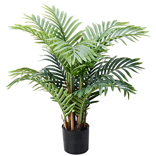 Palm Tree Artificial Plants Fake Tree Large Tropical Leaves Decorations Palm...