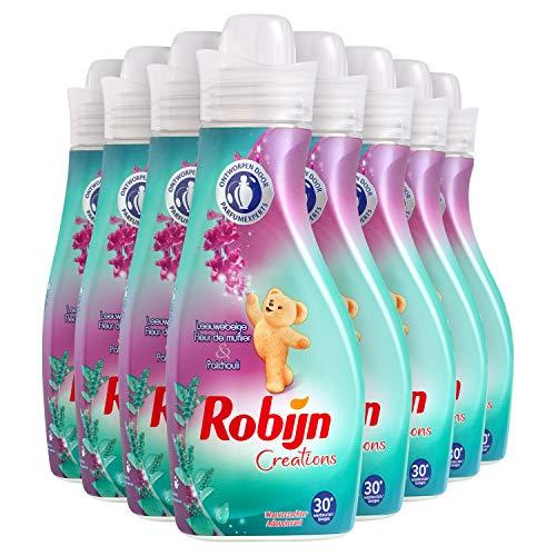 Robijn Leeuwebekje & Patchouli Wasverzachter 8 x 30 wasbeurten - 8 x 750 ml Voordeelverpakking