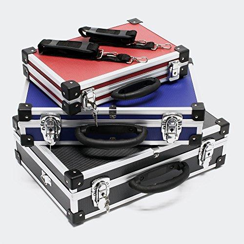Set de maletines aluminio en negro, azul y rojo Juego maletas Cajas de aluminio para almacenaje