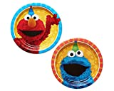 Amscan 541672.99 Assorted Round Plates | Sesame Street Collection | 8 pcs | Party Accessory