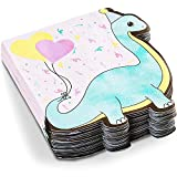 Tovaglioli di carta per festa di compleanno, motivo: dinosauro, colori pastello (15,9 x 15,6 cm, confezione da 50