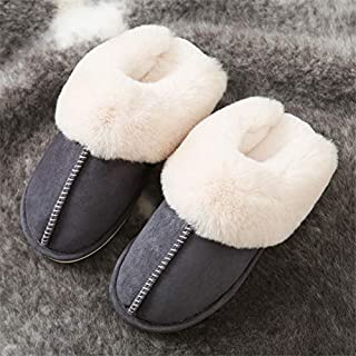 YANGLAN Simple Maokou Couple Cotton Slippers Non-slip Warm Indoor Home Slippers Autumn And Winter Korean Fashion Floor Cotton Mop Household slippers (Color : E, Size : (36~37))