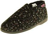 Dunlop Mujer Negro Zapatillas De Toque de Fijación Ortopédica EU 40
