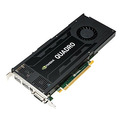 PNY NVIDIA QUADRO K4200 professionelle Grafikkarte 4 GB GDDR5 PCI-Express 2 x DP + DVI + Stereo (VCQK4200-PB)