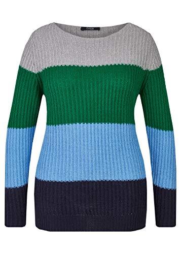 Frapp Damen Kuscheliger Pullover mit Breiten Ringeln