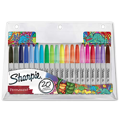 Sharpie Permanent Marker   Marker Stifte mit feiner Spitze   gemischte Farben   20Stück Market Set