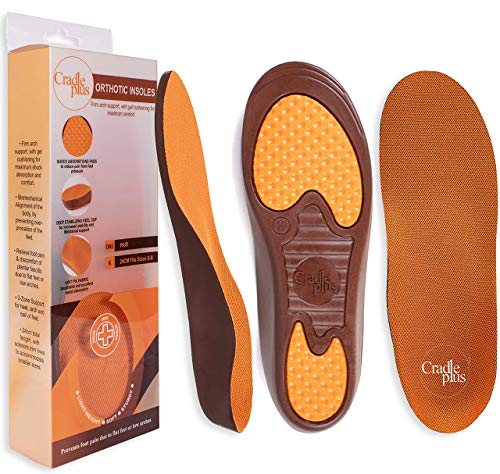 Arch Support Shoe Insert | Plantar Fascilitis Inserts | 24cm - Size K (6 - 8) US | Trim to Fit I Kids Orthopedic Insoles for Flat Feet | Relieve Heel and Foot Pain