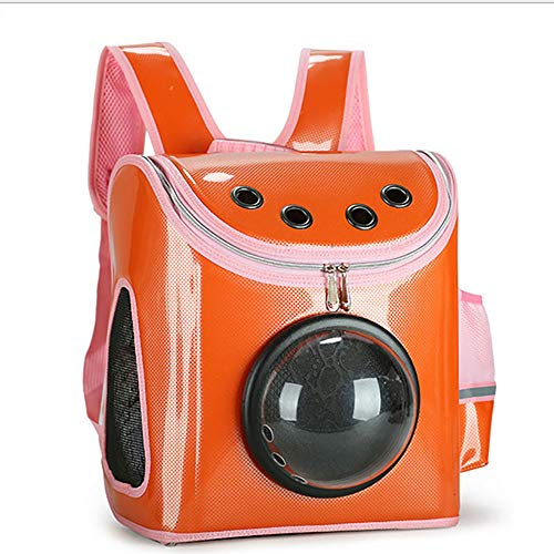 DOG BED YUE Pet Carrier Backpack,Portable Space Capsule Transparent Backpack, Breathable Backpack, for Travel, Hiking, Walking and Outdoor Use,Best Gift for Your Pets,E,S
