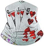 Hey Judey Chanceux Main Poker Flush Polaire Cou Réchauffeur Coupe-Vent d'hiver Cou Guêtre Froid Masque pour Le Visage