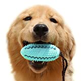 Volwco Upgrade, langlebiges Kauspielzeug für Hunde, interaktives Kauen aus Gummi, für kleine und mittelgroße Hunde, Zahnbürste, Zahnpflegezubehör für Hundetraining, Futterspender