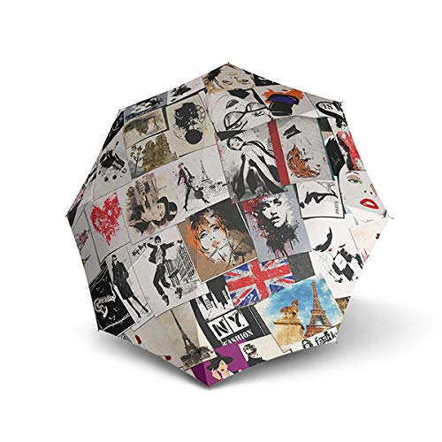 Doppler Modern Art Magic Mini Postcards Regenschirm Umbrella Schirm mit Doppel Automatik 74615709