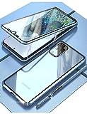 KumWum Magnetica Custodia per Galaxy S20 Plus 5g Fronte e Retro 360 9H Vetro Temperato con Protettore Obiettivo in Metallo Telefono Cover per Samsung S20+ - Blu