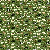 Northcott Farm Animal Stoff–Bauernhof Tiere