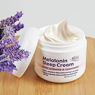 Melatonin Sleep Night Cream With Lavendar & Chamomile (4oz)