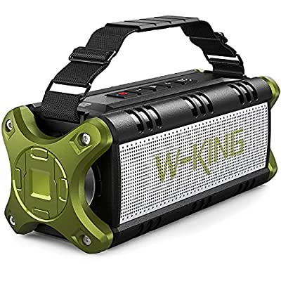 Bluetooth Speaker, W-KING 50W Super Loud Portable Bluetooth Speaker Waterproof IPX6 with 8000mAh Power Bank/Punchy Bass, Outdoor Bluetooth 5.0 Stereo Speakers Support 24H Playtime/TF Card/AUX/NFC