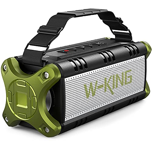Cassa Bluetooth, W-KING 50W(Picco 70W) Altoparlante Bluetooth Portatili, 24 Ore di Riproduzione Speaker, 8000mAh Batteria Power Bank, IPX6 Casse Impermeabile con Bassi, NFC, Carta di TF