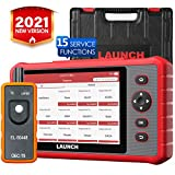 LAUNCH CRP909X Scan Tool OBD2 Scanner Full System Diagnostic Tool 16 Reset Functions Oil Reset, EPB, BMS, SAS, DPF, ABS Bleeding TPMS Auto VIN One-Click Update, EL-50448 Tool as Gift